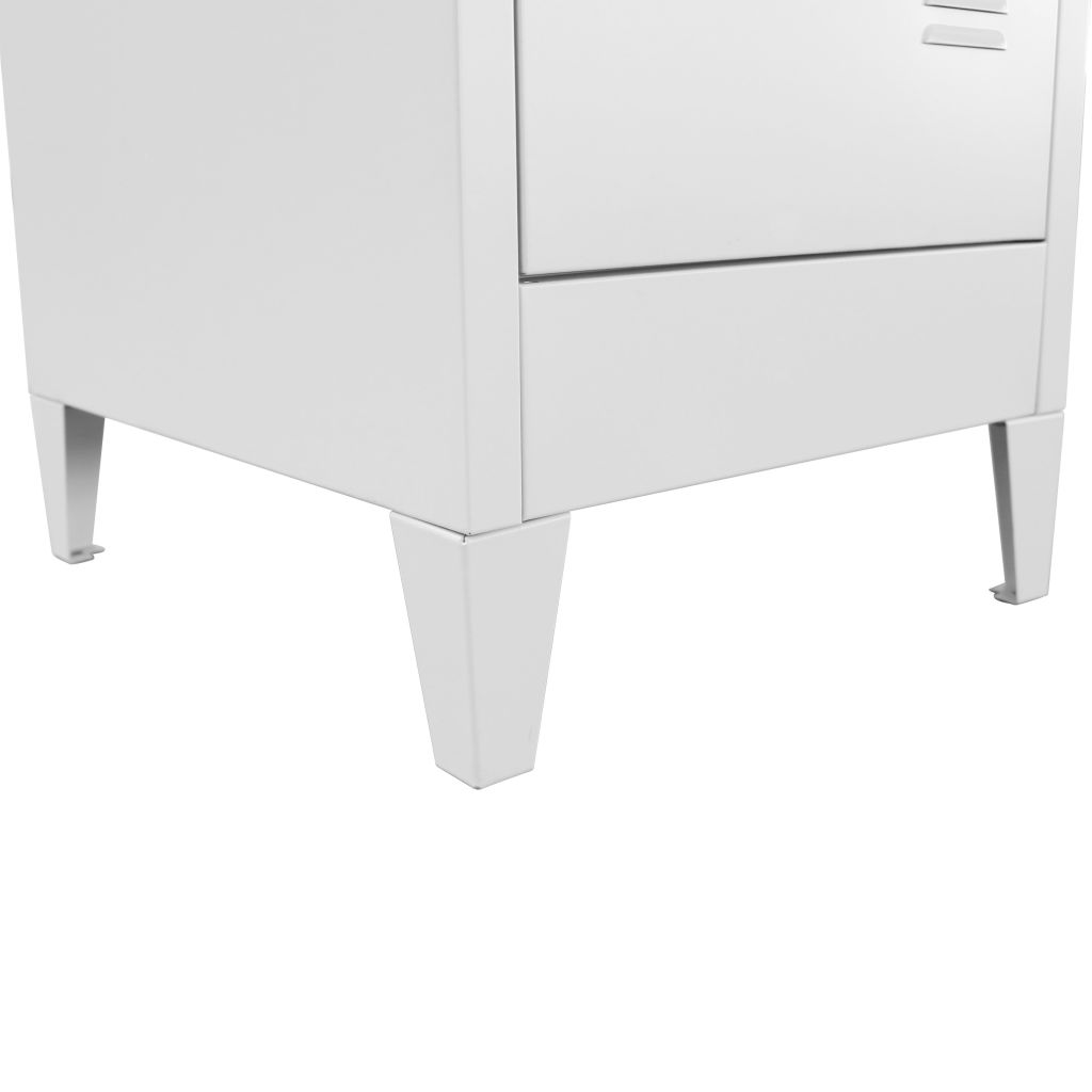 Locker Cabinet with 3 Compartments 38x45x180 cm 7