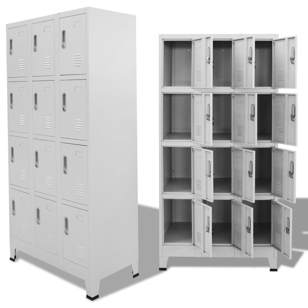 Locker Cabinet with 12 Compartments 90x45x180 cm 1