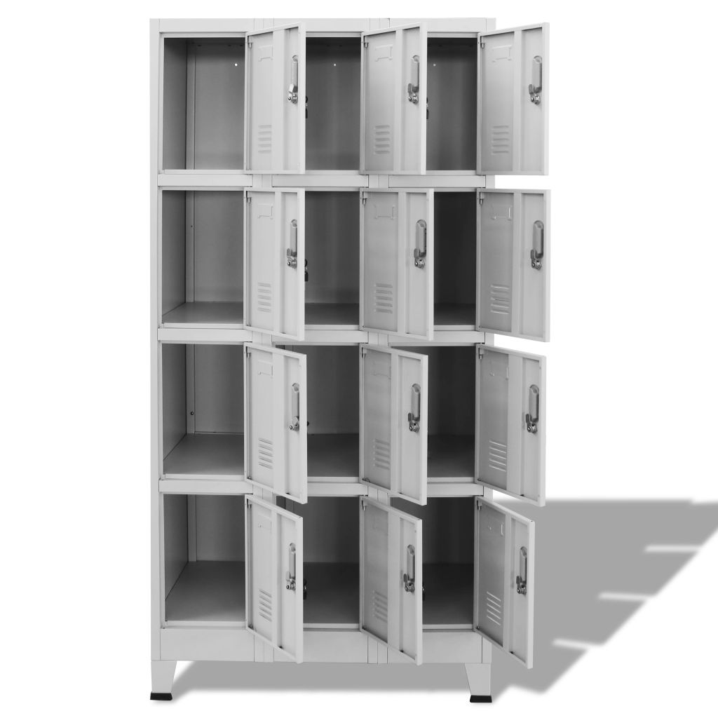 Locker Cabinet with 12 Compartments 90x45x180 cm 3