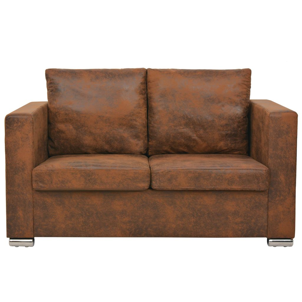 2-Seater Sofa 137x73x82 cm Artificial Suede Leather 2