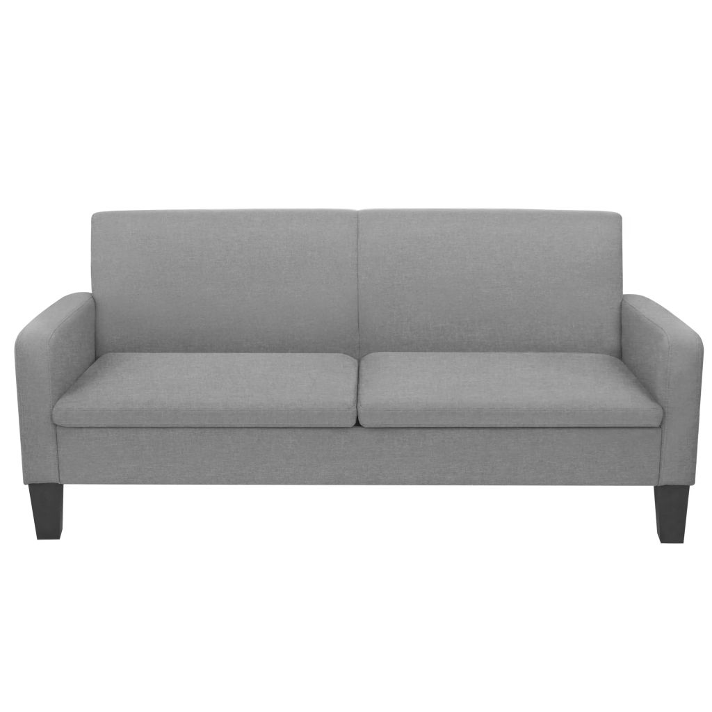 3-Seater Sofa 180x65x76 cm Dark Grey 2
