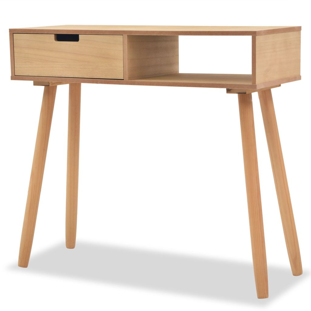 Console Table Solid Pinewood 80x30x72 cm Brown 1