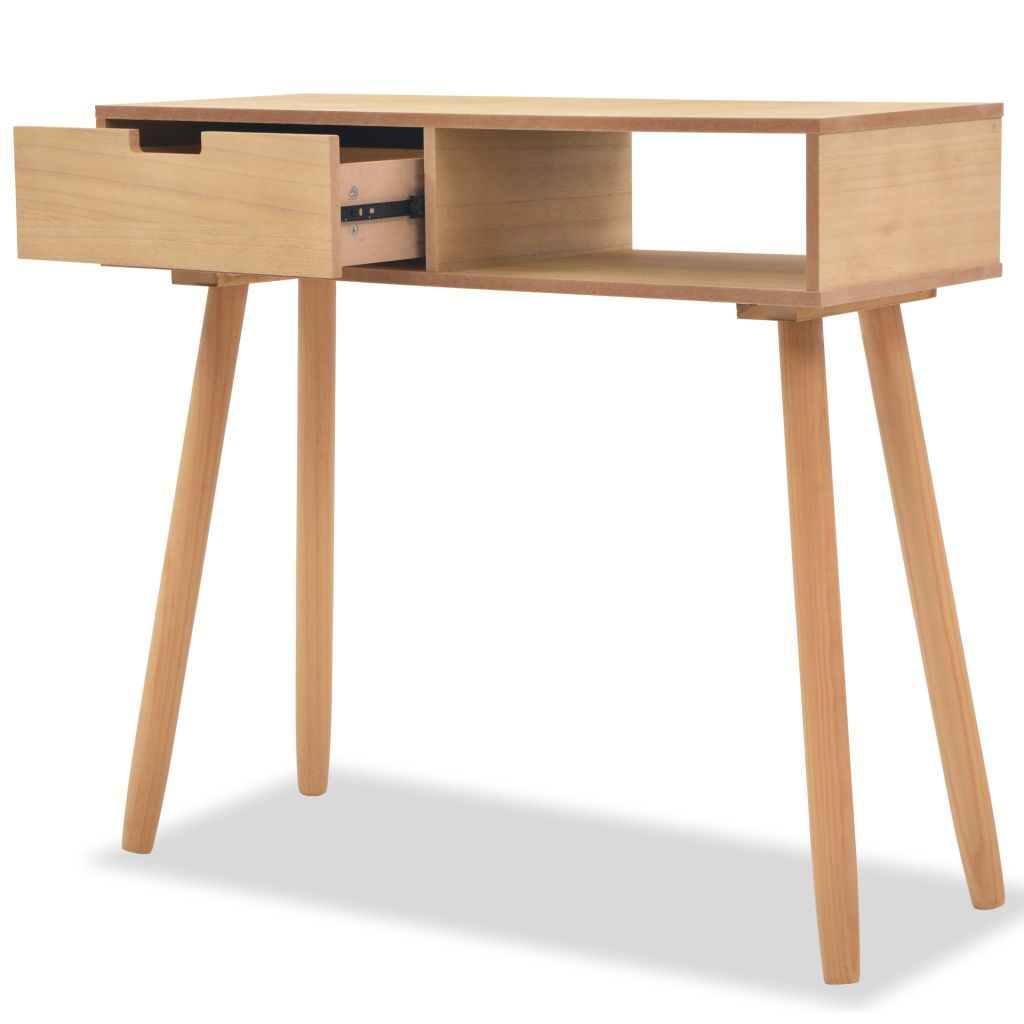Console Table Solid Pinewood 80x30x72 cm Brown 2