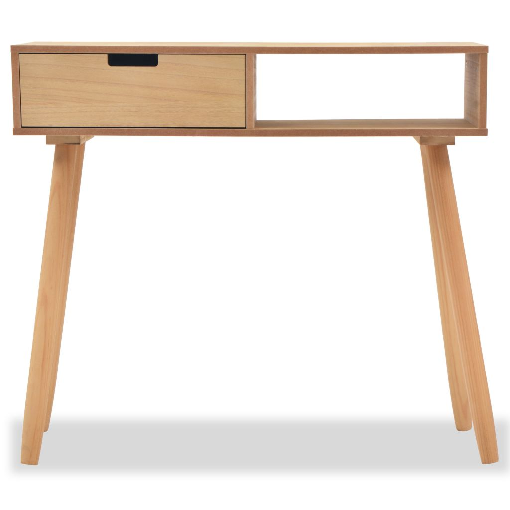 Console Table Solid Pinewood 80x30x72 cm Brown 3