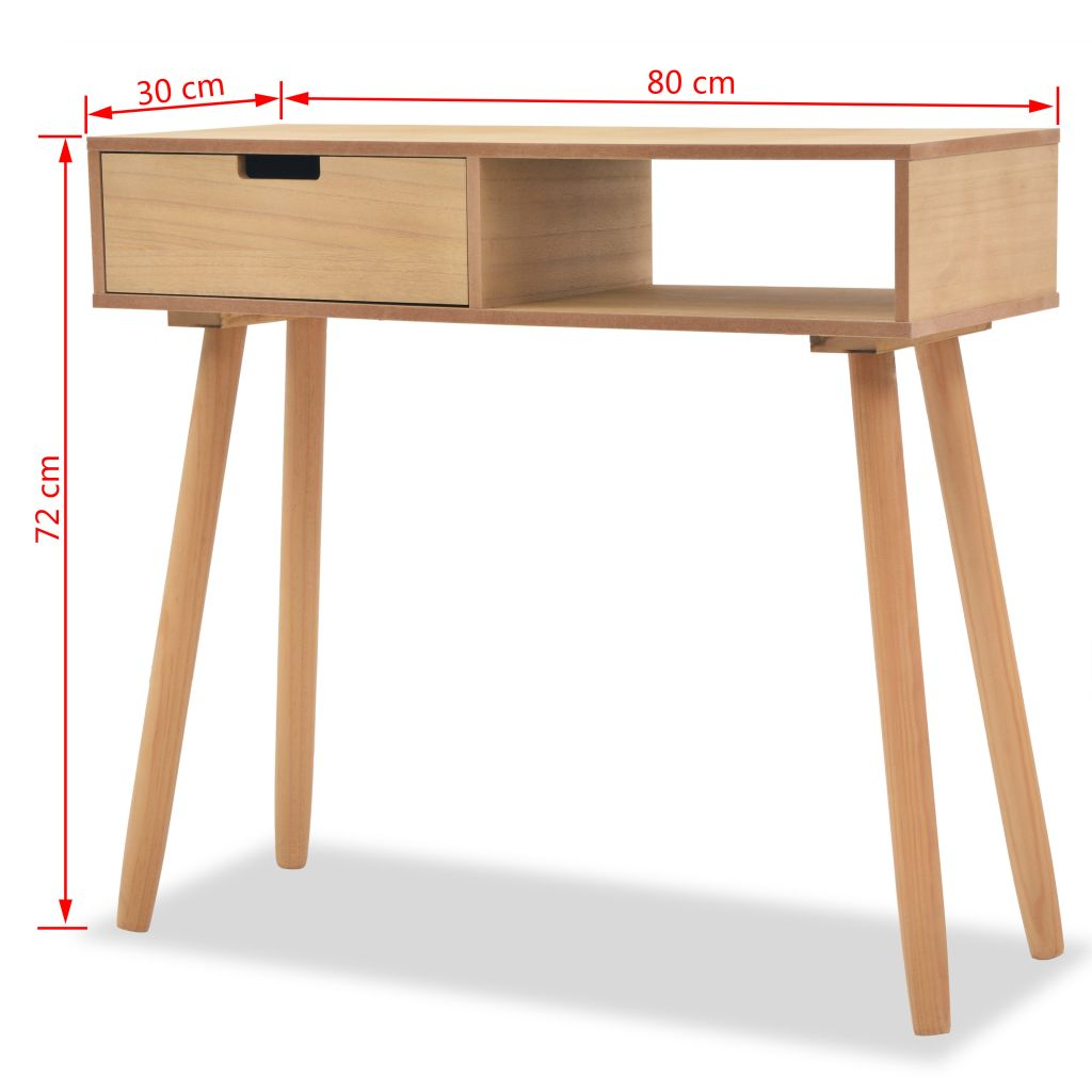 Console Table Solid Pinewood 80x30x72 cm Brown 6