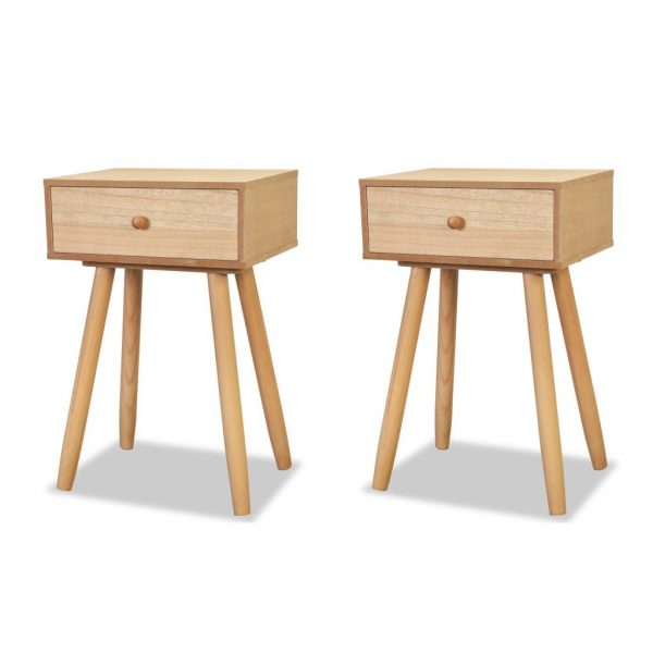 Bedside Tables 2 pcs Solid Pinewood 40x30x61 cm Brown 2