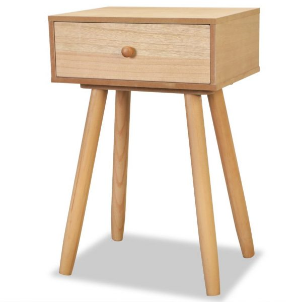 Bedside Tables 2 pcs Solid Pinewood 40x30x61 cm Brown 3