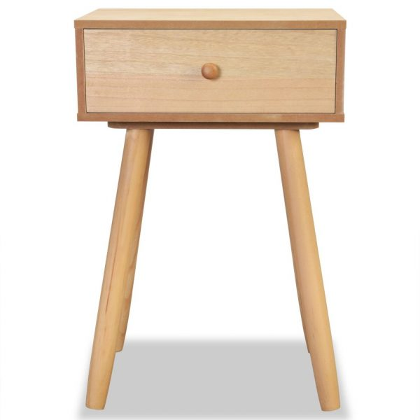 Bedside Tables 2 pcs Solid Pinewood 40x30x61 cm Brown 5