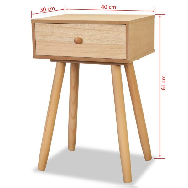 Bedside Tables 2 pcs Solid Pinewood 40x30x61 cm Brown 8