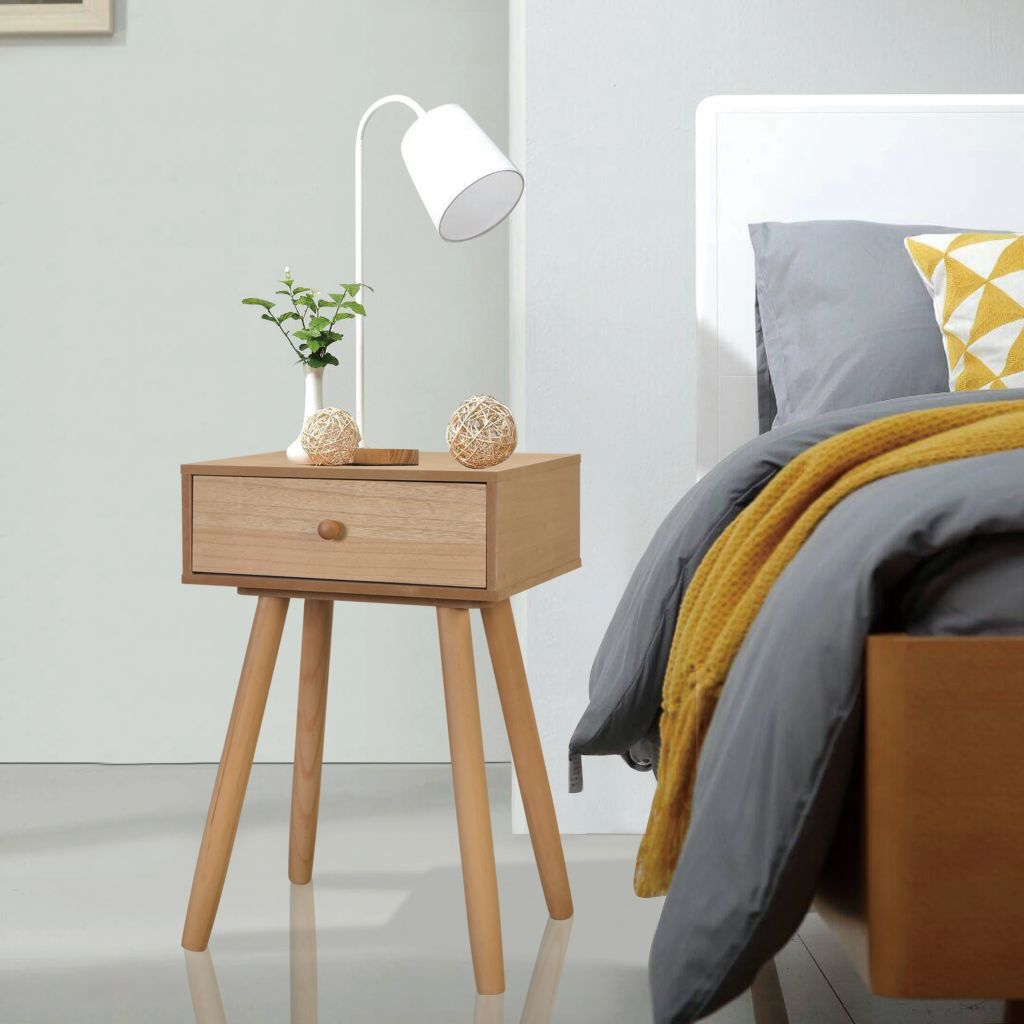 Bedside Tables 2 pcs Solid Pinewood 40x30x61 cm Brown 1