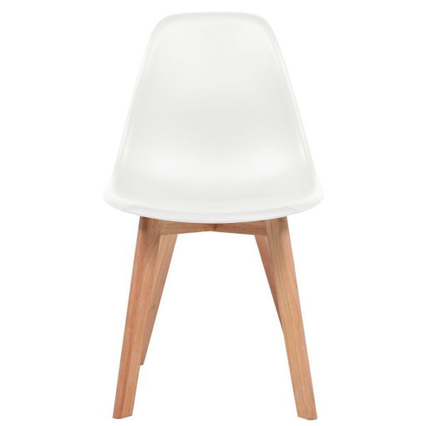 Dining Chairs 2 pcs White Plastic 2
