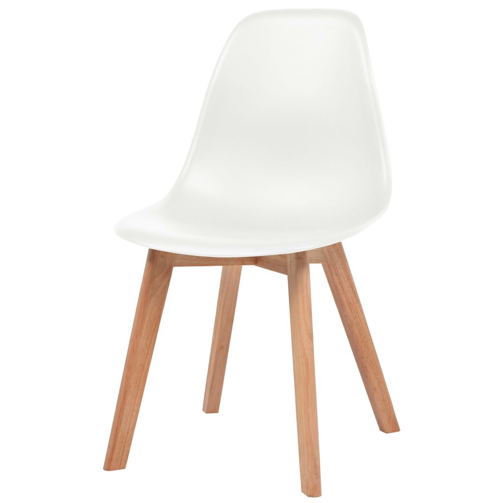 Dining Chairs 2 pcs White Plastic 3