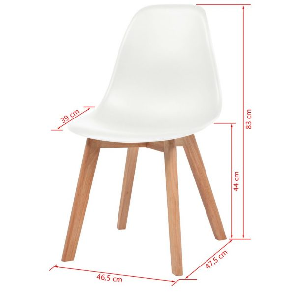 Dining Chairs 2 pcs White Plastic 6