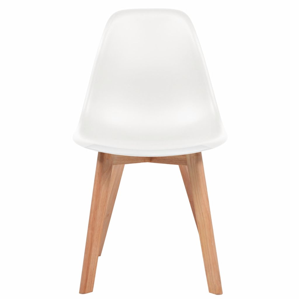 Dining Chairs 4 pcs White Plastic 2