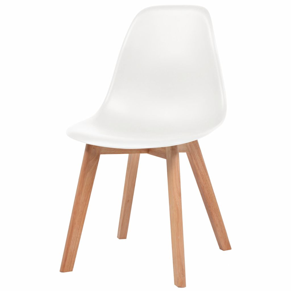 Dining Chairs 4 pcs White Plastic 3