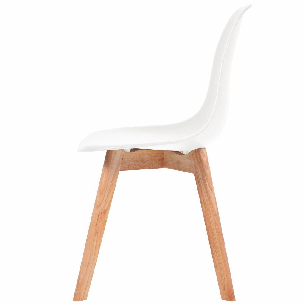 Dining Chairs 4 pcs White Plastic 4