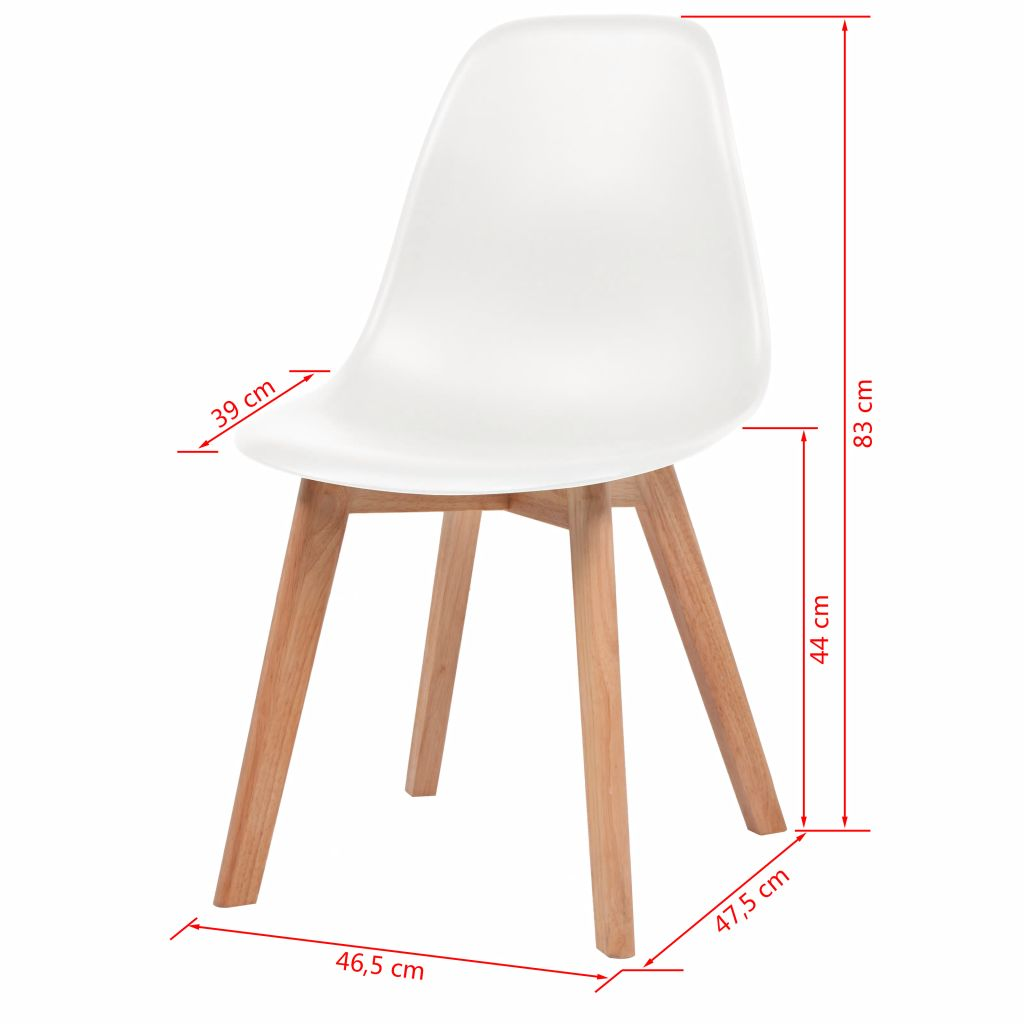 Dining Chairs 4 pcs White Plastic 6