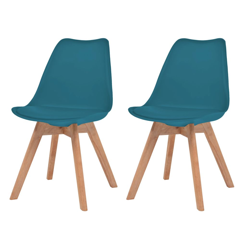 Dining Chairs 2 pcs Turquoise Faux Leather 1