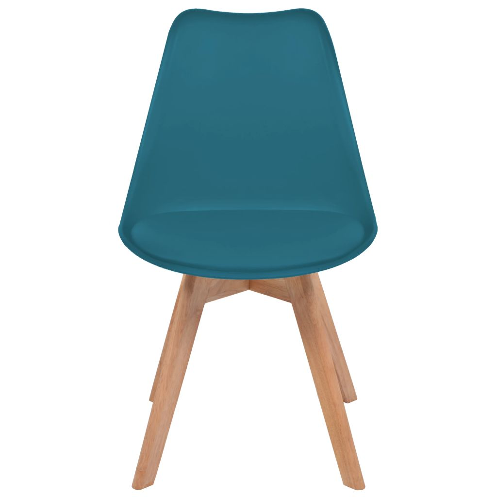 Dining Chairs 2 pcs Turquoise Faux Leather 3
