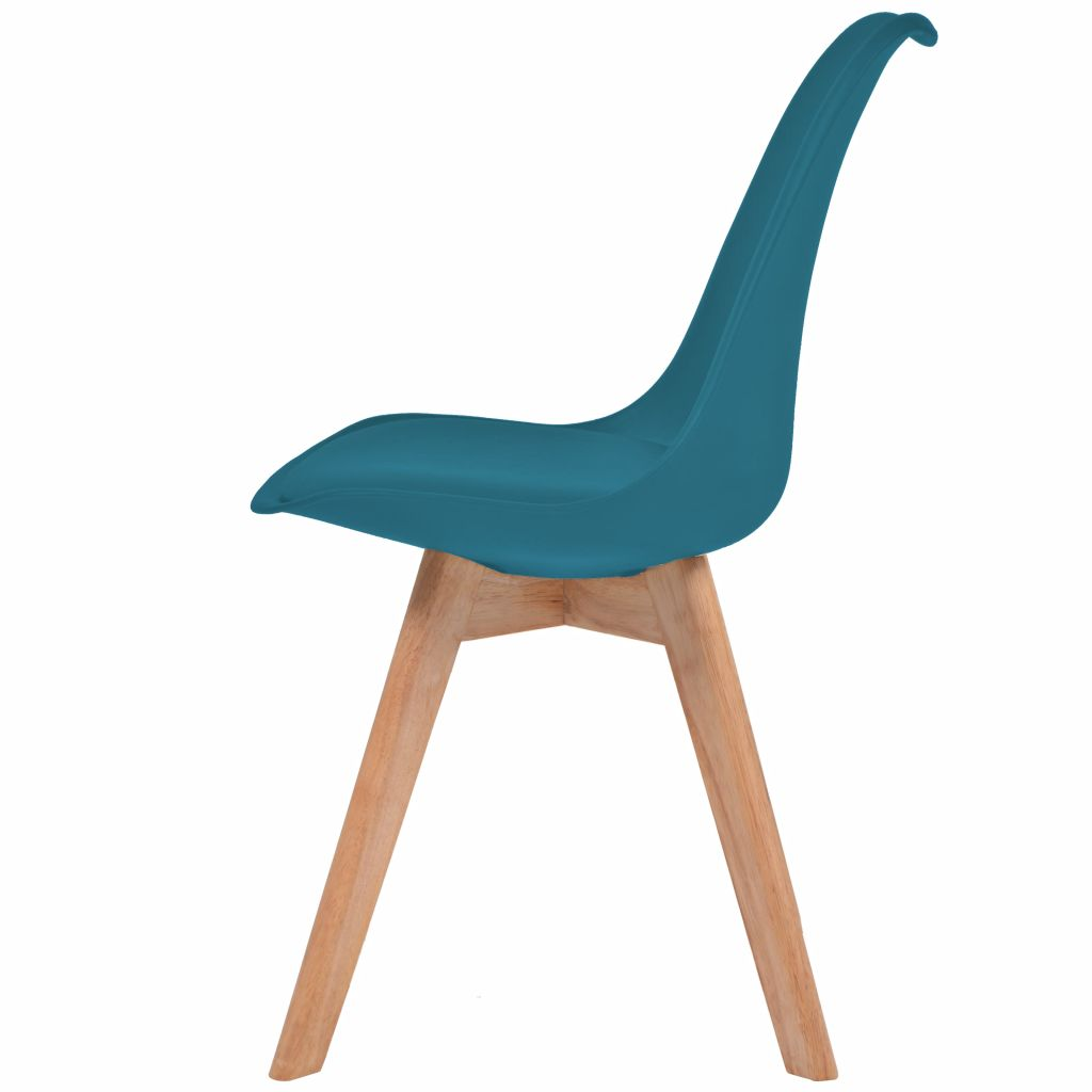 Dining Chairs 2 pcs Turquoise Faux Leather 4