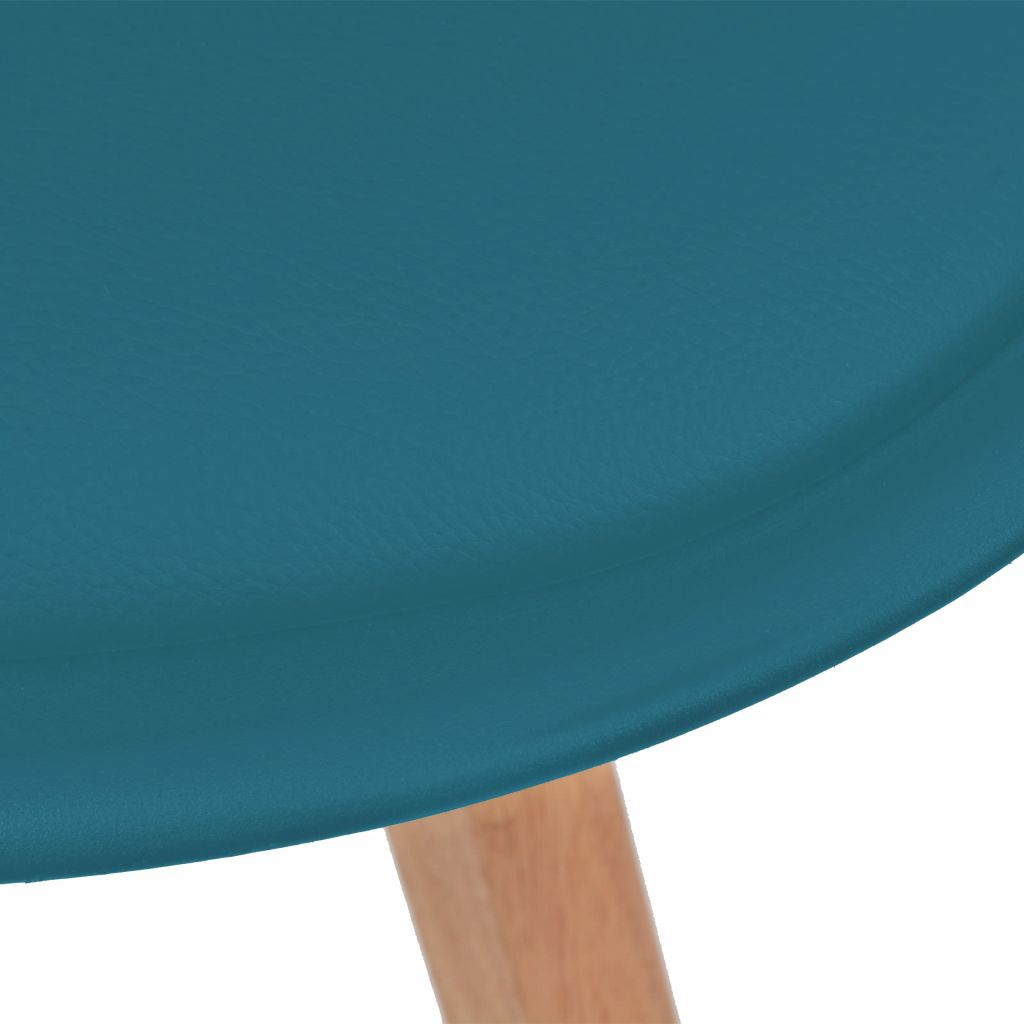 Dining Chairs 2 pcs Turquoise Faux Leather 5