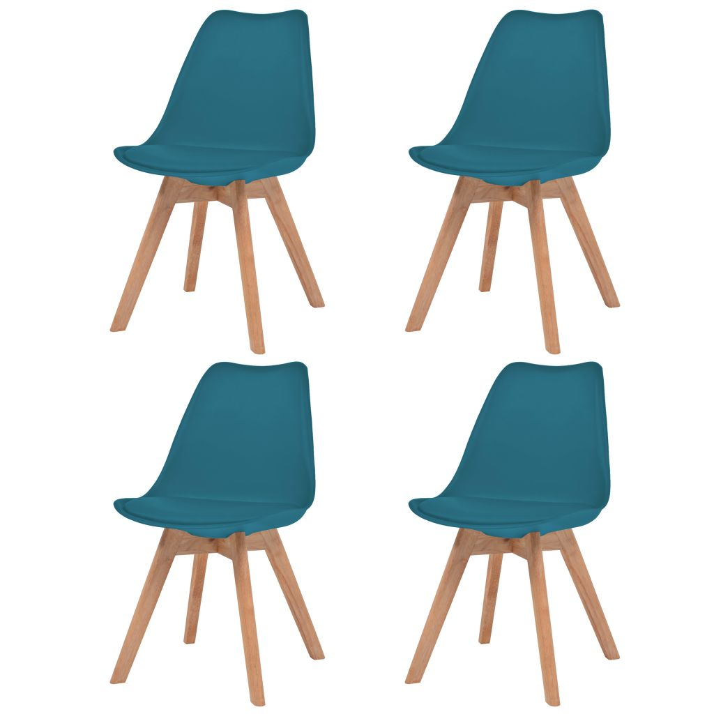 Dining Chairs 4 pcs Turquoise Faux Leather 1