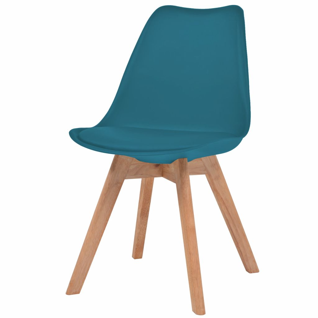 Dining Chairs 4 pcs Turquoise Faux Leather 2