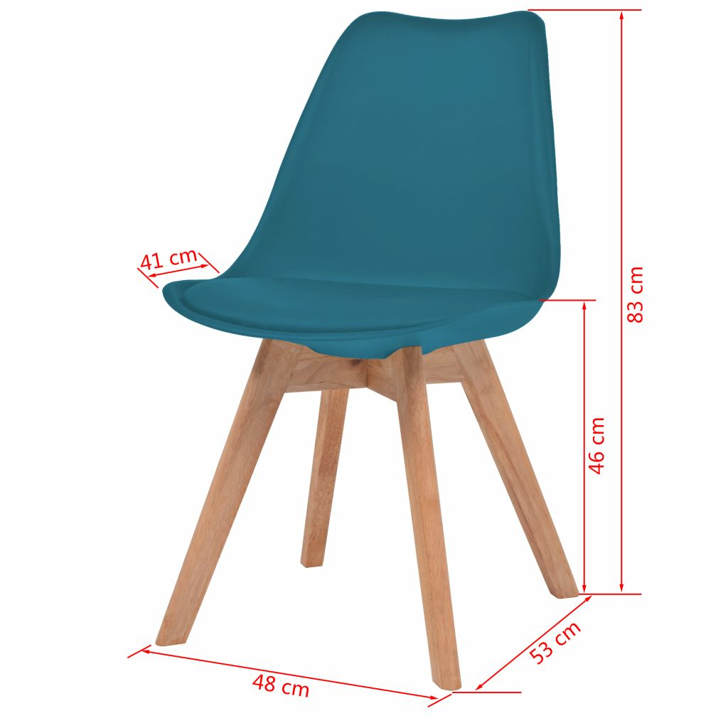 Dining Chairs 4 pcs Turquoise Faux Leather 5