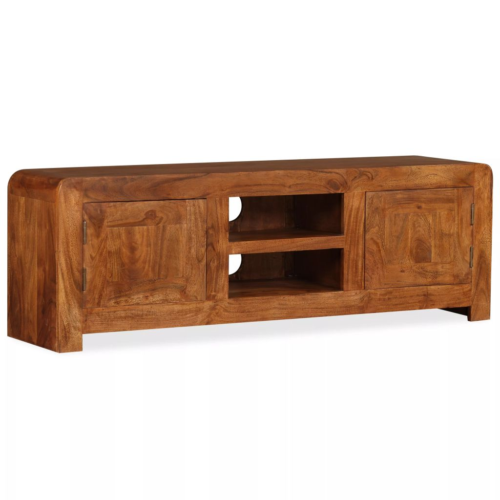 TV Cabinet 120x30x40 cm Solid Wood with Sheesham Finish 1