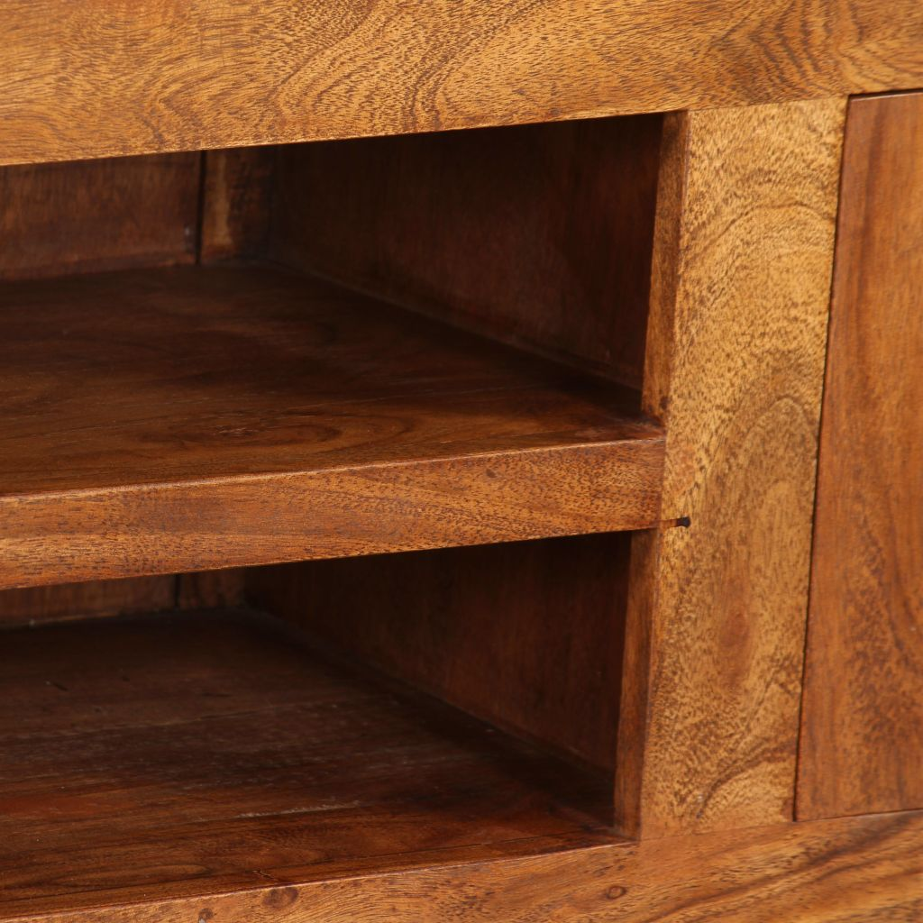 TV Cabinet 120x30x40 cm Solid Wood with Sheesham Finish 2