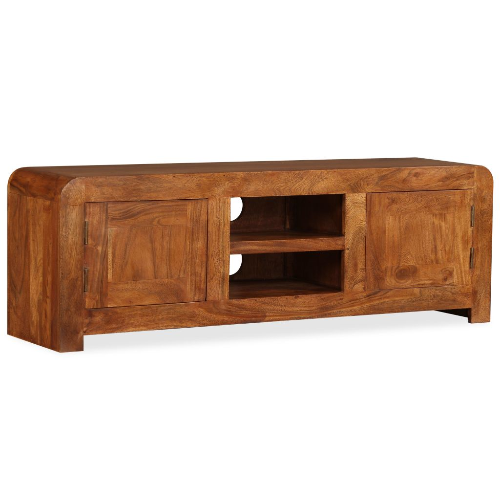 TV Cabinet 120x30x40 cm Solid Wood with Sheesham Finish 3