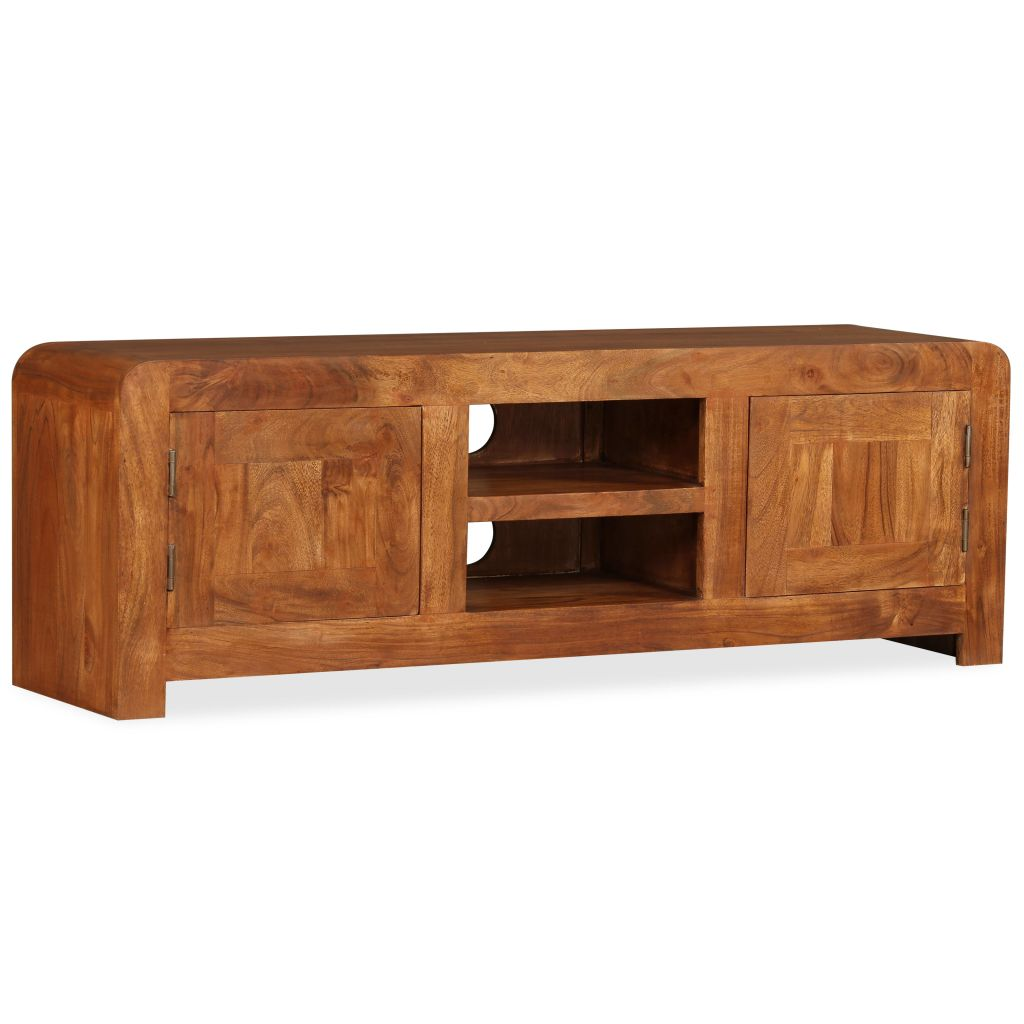 TV Cabinet 120x30x40 cm Solid Wood with Sheesham Finish 6