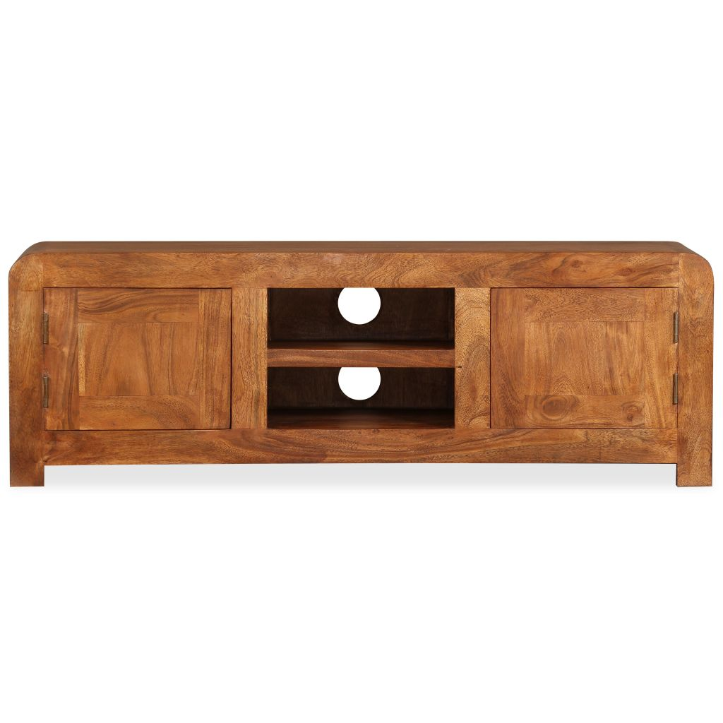 TV Cabinet 120x30x40 cm Solid Wood with Sheesham Finish 7