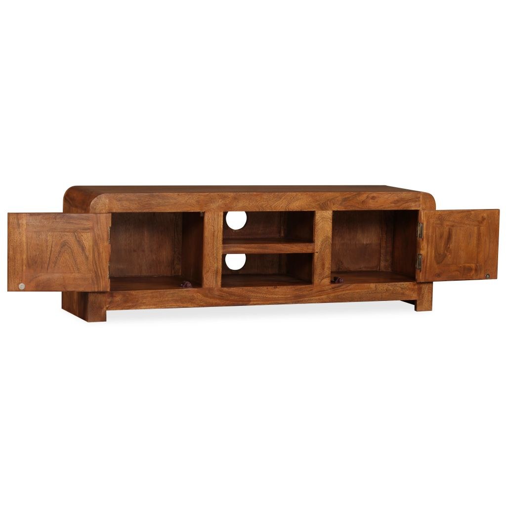 TV Cabinet 120x30x40 cm Solid Wood with Sheesham Finish 8