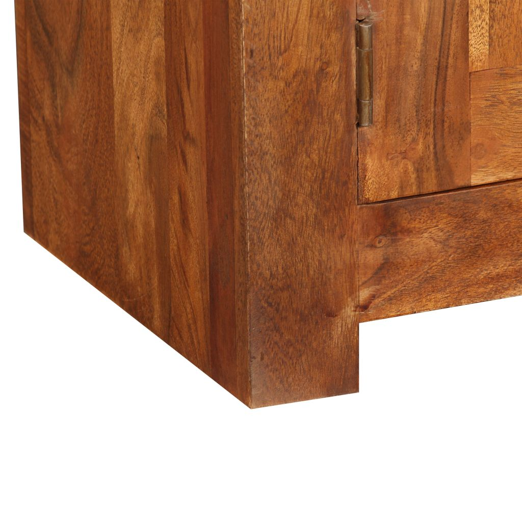 TV Cabinet 120x30x40 cm Solid Wood with Sheesham Finish 10