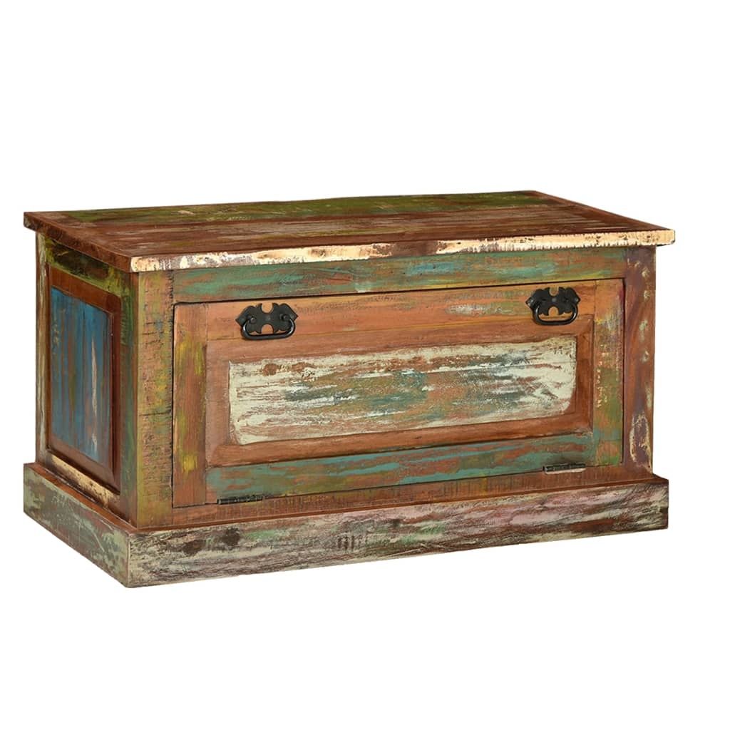 Shoe Storage Bench Solid Reclaimed Wood 1