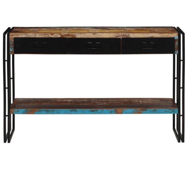 Console Table Solid Reclaimed Wood 120x30x76 cm 2