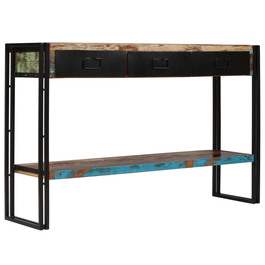 Console Table Solid Reclaimed Wood 120x30x76 cm 11