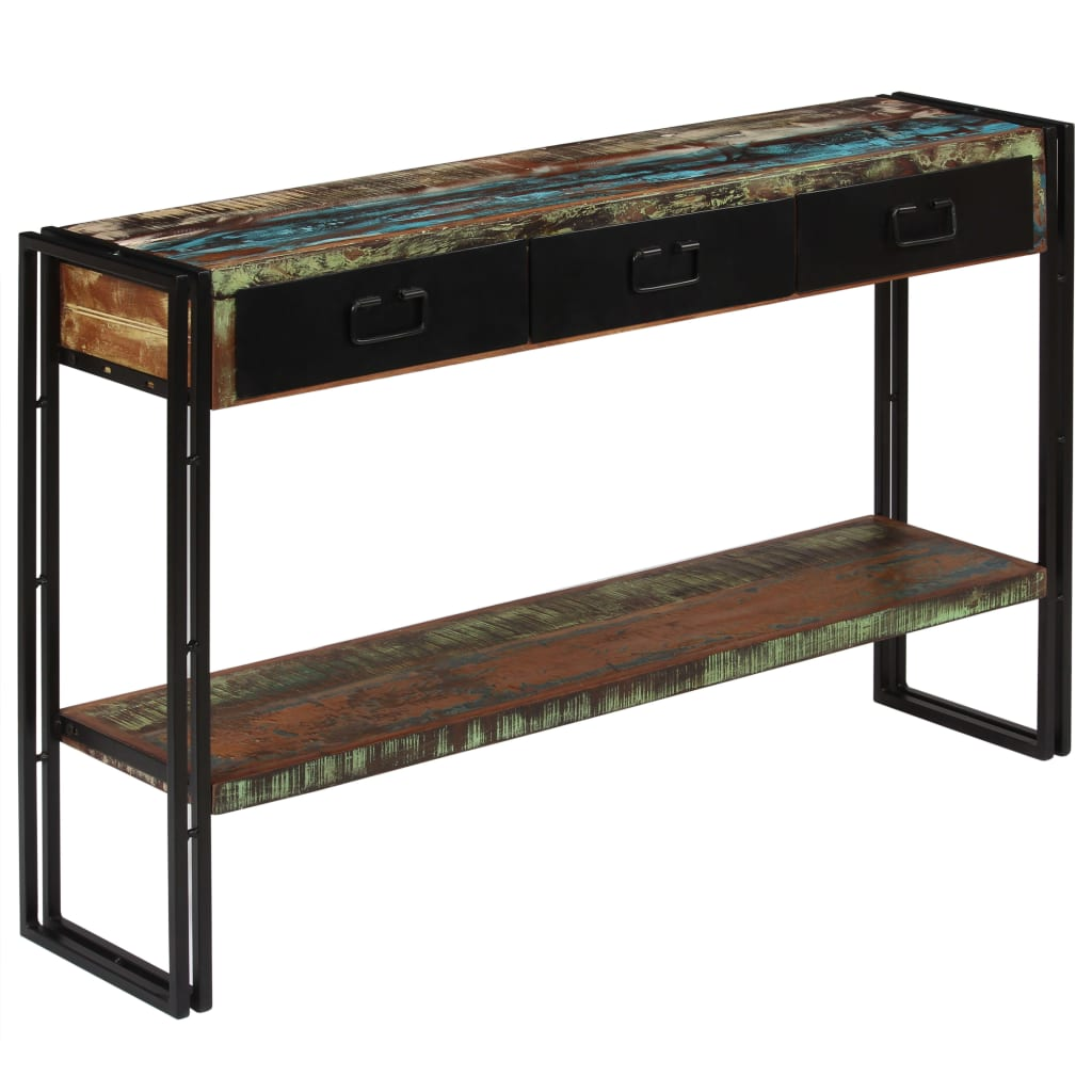 Console Table Solid Reclaimed Wood 120x30x76 cm 7