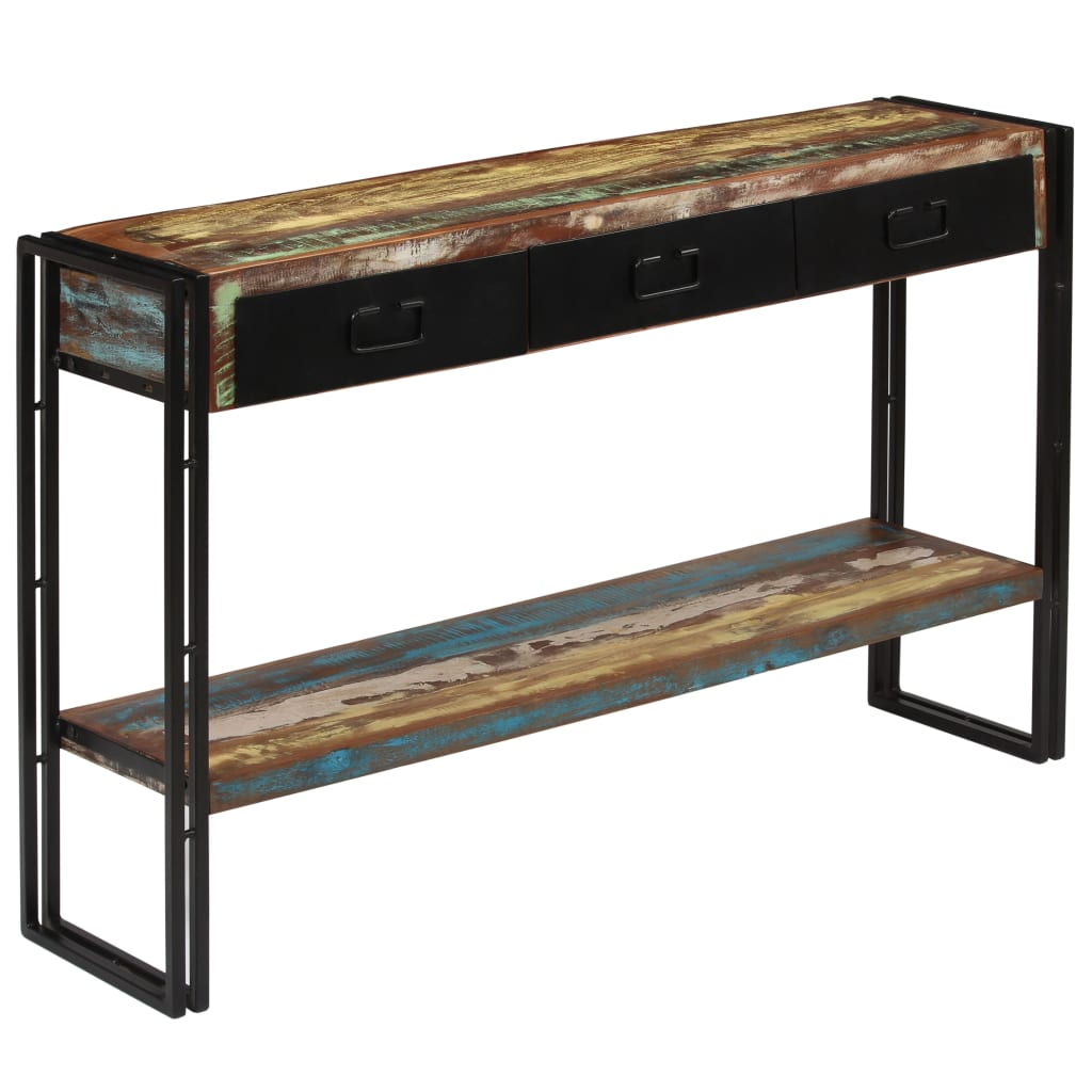 Console Table Solid Reclaimed Wood 120x30x76 cm 8