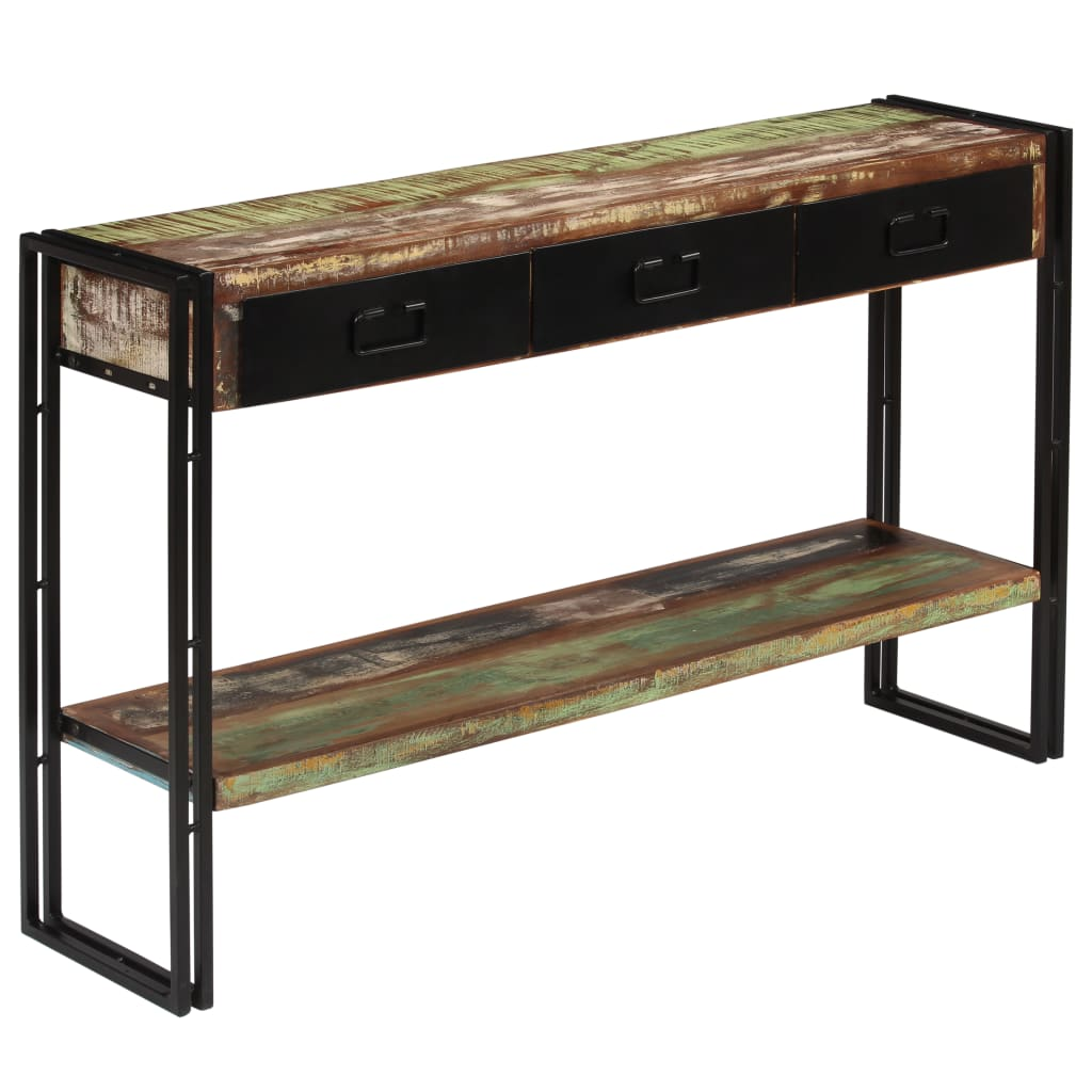 Console Table Solid Reclaimed Wood 120x30x76 cm 9
