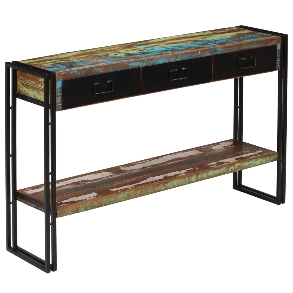 Console Table Solid Reclaimed Wood 120x30x76 cm 10