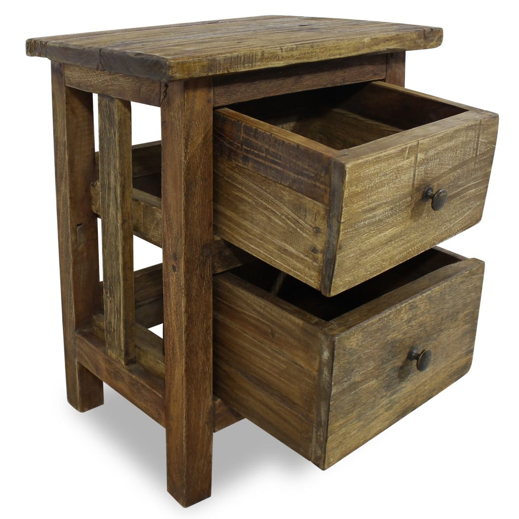 Nightstand Solid Reclaimed Wood 40x30x51 cm 3