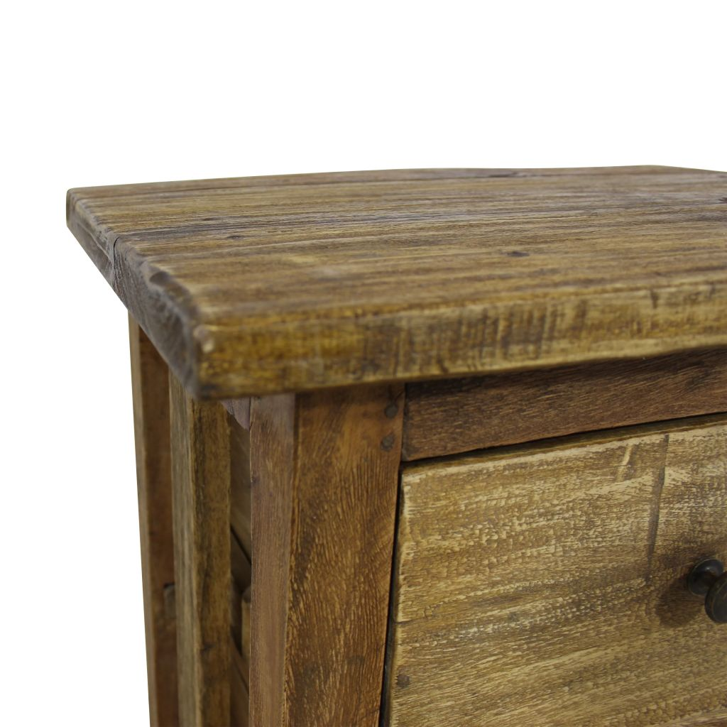 Nightstand Solid Reclaimed Wood 40x30x51 cm 6