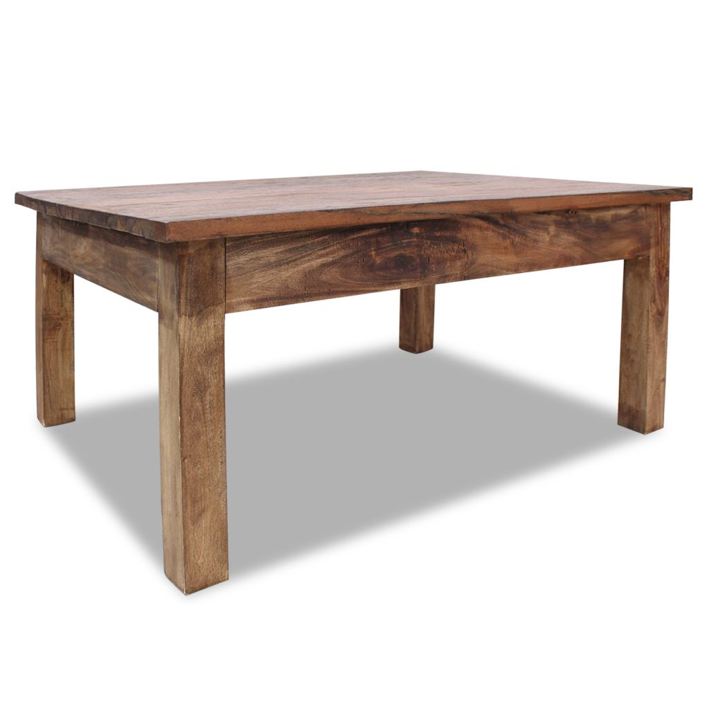 Coffee Table Solid Reclaimed Wood 98x73x45 cm