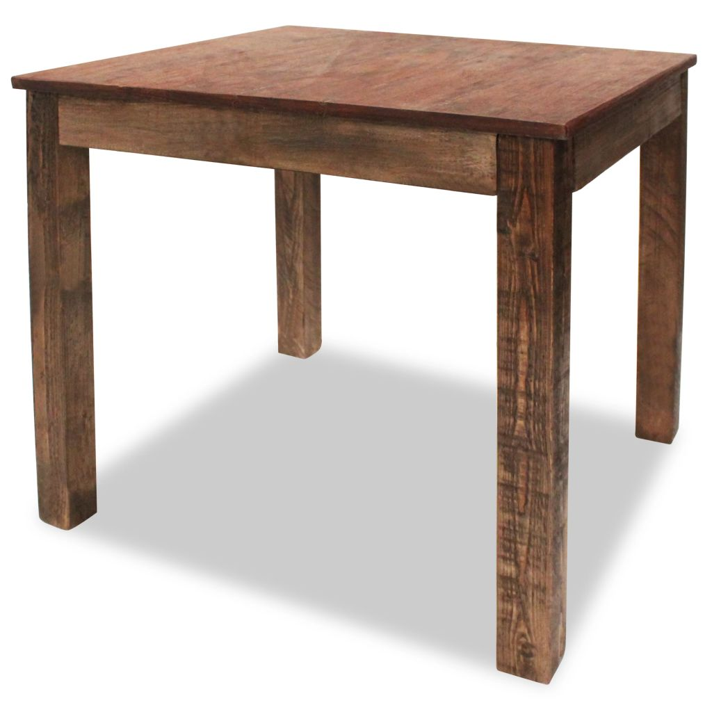 Dining Table Solid Reclaimed Wood 82x80x76 cm 1