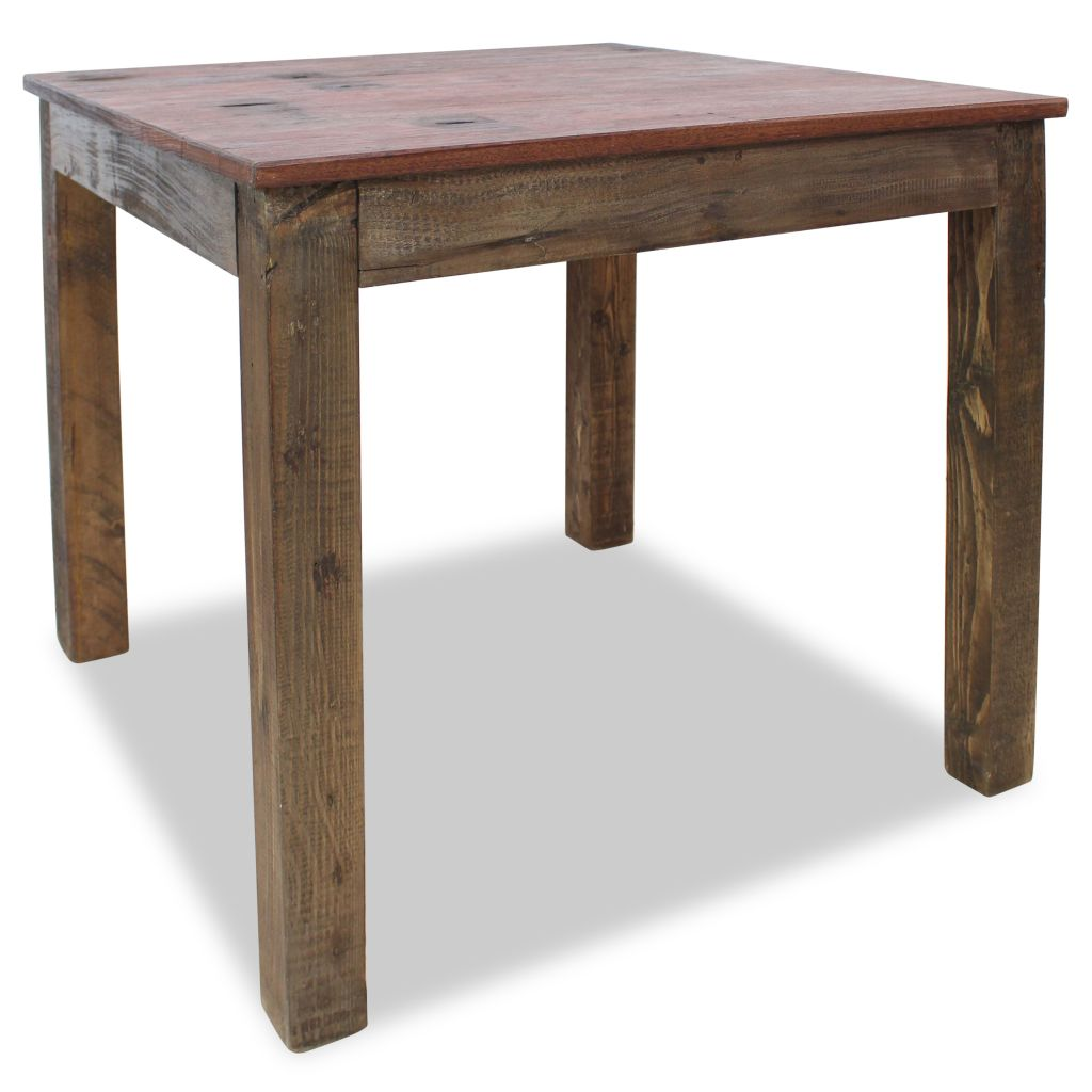 Dining Table Solid Reclaimed Wood 82x80x76 cm 2