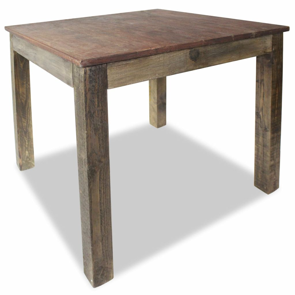 Dining Table Solid Reclaimed Wood 82x80x76 cm 3