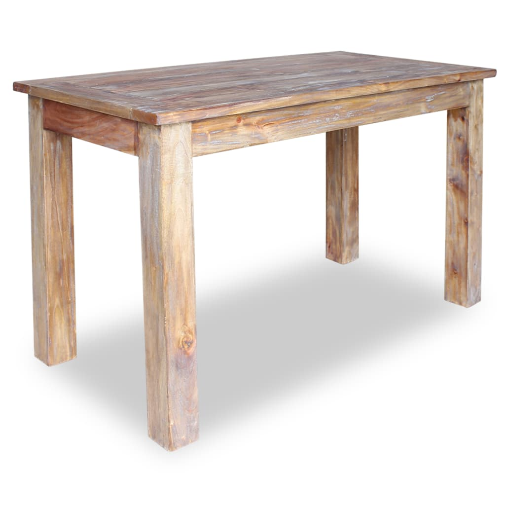 Dining Table Solid Reclaimed Wood 120x60x77 cm 1