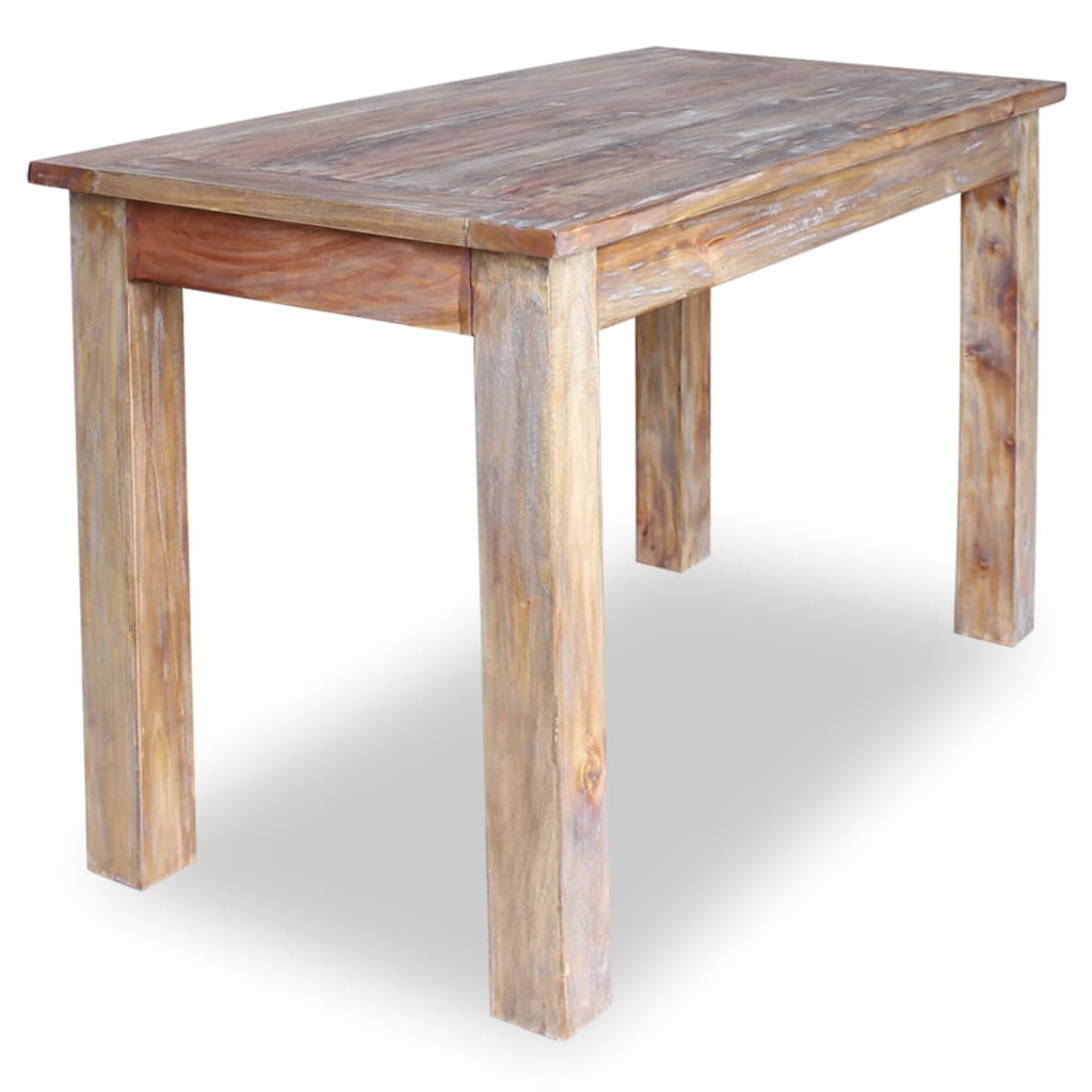 Dining Table Solid Reclaimed Wood 120x60x77 cm 2